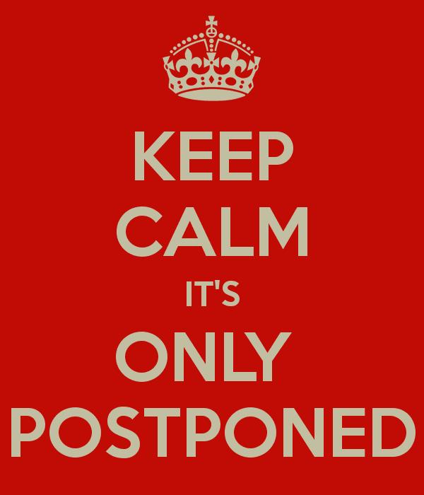 Liturgy Commission Meeting Postponed