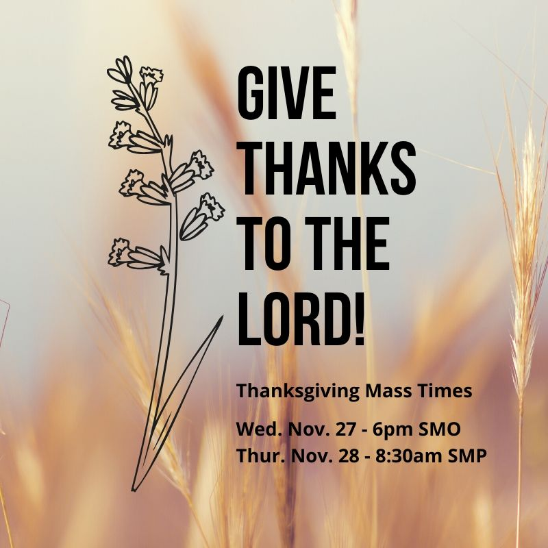 Thanksgiving Mass Times