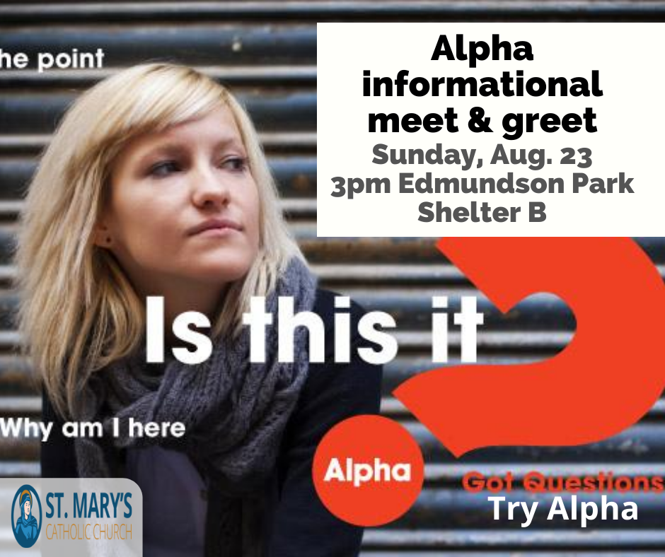 Alpha is coming to St. Mary's!